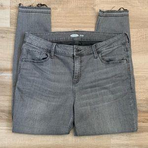 OLD NAVY Rockstar Distressed Released Hem Jeans